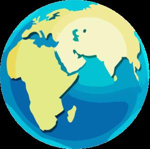 Carte du monde pour sensibiliser aux enjeux de l'eau grâce au jeu ludique Eau'Rigine